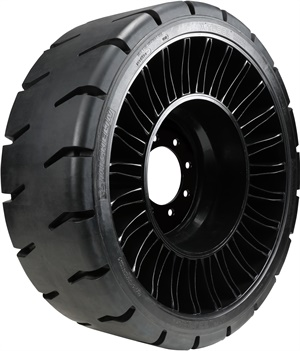 Michelin's Tweel SSL 2 HST is the latest edition of the airlless tire made for hard surface applications.