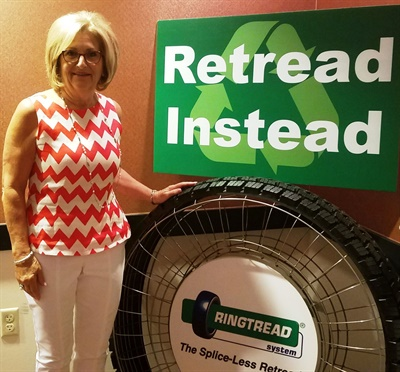 Rep. Diane Black learned how the retread industry's benefits the economy and the environment during a visit to Marangoni headquarters in Tennessee.