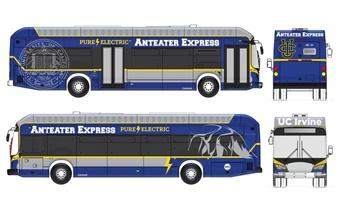 Rendering of BYD battery electric bus via UC Irvine.