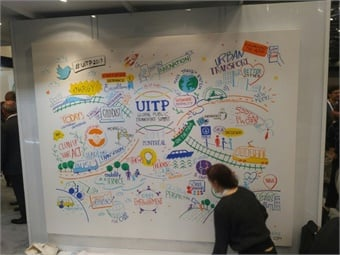 "UITP ""Thought Wall"" during the Summit."