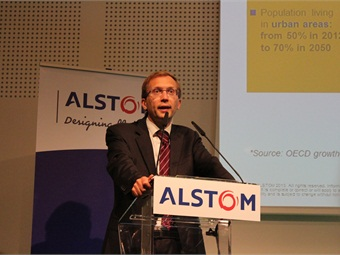 Alstom Transport President Henri Poupart-Lafarge discusses the launch of the two major innovation solutions: Attractis and SRS