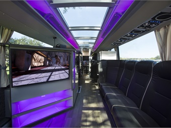 What motorcoaches could look like in the future.