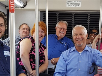 Jerry Benson (shown on right) has served as Utah Transit Authority's interim president/CEO for the last year. Photo: UTA via Facebook