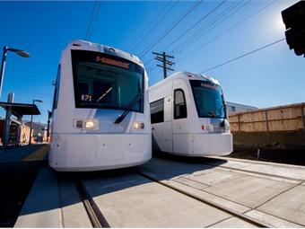 Utah Transit Authority's S-Line streetcar. UTA