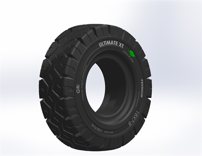 GRI has developed an environmentally friendly version of its Ultimate XT solid tire.