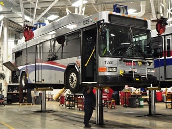 Timely maintenance and repairs of transit fleets require access to tools and parts. Photo: COTA