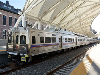 Denver RTD's commuter rail service at Union Station.