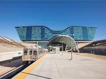 University of Colorado A Line Denver Airport Station pictured. Denver RTD's campaign was designed to increase service awareness, educate the public about commuter rail, promote grand opening events, and encourage ridership.