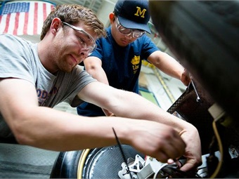 Since 2012, U-M has been running the MTRAC advanced transportation program. Photo: University of Michigan