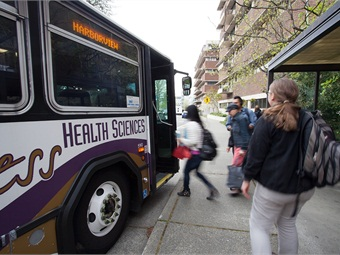 UW transportation engineers have developed an inexpensive system to sense Wi-Fi and Bluetooth signals from bus passengers' mobile devices and collect data to build better transit systems. They tested it on UW shuttle buses last spring. University of Washington