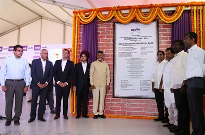 The company unveiled a large plaque during the foundation stone laying ceremony.