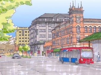 A rendering of UTA's BRT project.