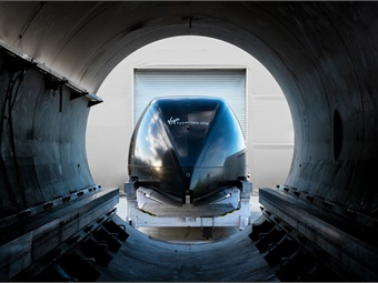 Hyperloop is an experimental form of transportation involving a floating pod that travels inside a low-pressure tube. Virgin Hyperloop One