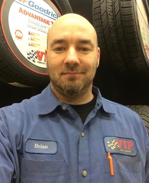 World Class Technician Brian Thibodeau has worked for VIP Tires and Service for 21 years and is currently based at the company's outlet in Presque Isle, Maine.