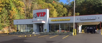 VIP Tires & Service has moved across the street in Claremont, N.H., into a former Ford dealership. The company has invested more than $1 million to purchase and renovate the space.