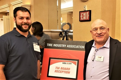 TIA Vice President Dan Nothdurft (right) will speak at the CTDA/1-800EveryRim New Year Luncheon on Jan. 29. He is pictured with Vahe Michaelian of 1-800EveryRim OEM Wheels, which will host the luncheon.