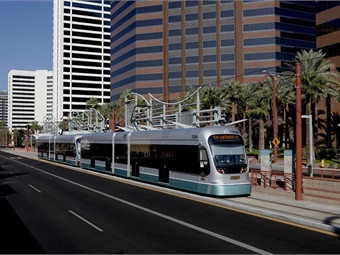 A Valley Metro light rail train in service. Photo: HDR
