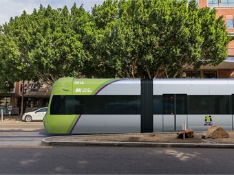 The Tempe Streetcar (rendering shown) is a three-mile streetcar with 14 stations and six vehicles that will connect downtown and other key locations. Valley Metro