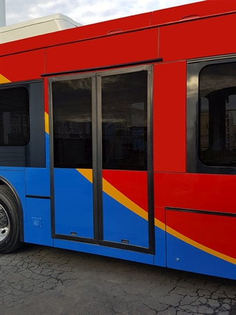 Designed to meet the rigorous daily demands of city bus applications, the Vapor Outside Sliding Plug Door (OSSP) includes a patented, electric actuator that minimizes space claim in the header area while maximizing clear door opening to facilitate passenger ingress and egress.