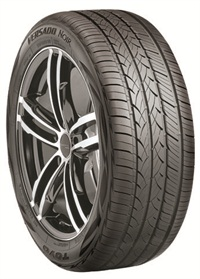 The Toyo Versado Noir luxury touring all-season passenger tire has a sidewall design created to complement luxury sedans and coupes.