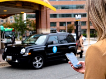 Uber, Lyft, and Via (shown), for example, all offer business accounts that allow employers to distribute funds and manage usage for employees. Via