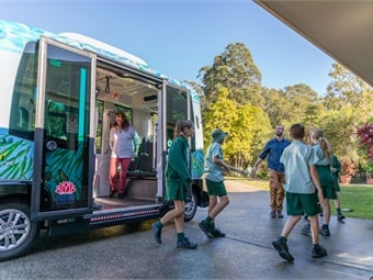 EasyMile's autonomous vehicle technology is being used to serve a local retirement community in New South Whales, Australia. Via