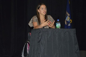 Victoria Arlen, a gold medal-winning para-athlete swimmer, explained how she has overcome her struggles with paralysis to succeed.