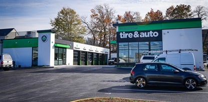 """We've designed our stores to be a modern mom-and-pop for busy families and businesspeople,"" says Julie Holmes, co-CEO of Virginia Tire & Auto LLC."