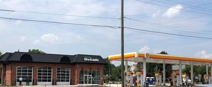 Virginia Tire & Auto has demolished and rebuilt a Shell station, and made facade, landscaping and lighting improvements at its site in Springfield.