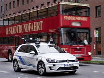 The e-Golf configured by Volkswagen Group Research have 11 laser scanners, seven radars, and 14 cameras.