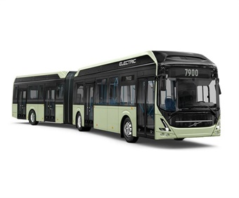 The Volvo 7900 Electric Articulated will be available in a choice of two lengths — 59 and 61 feet.