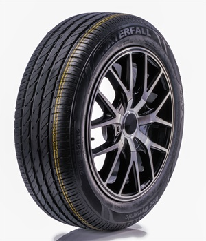 Horizon is the exclusive distributor of Waterfall tires in North America. The new Waterfall Eco Dynamic passenger tire is pictured.