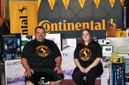 Wayne Winders, a member of the sales team at Industrial Tire Service, and his wife Ashley, competed in Continental's first dealer dash for commercial Horsepower tire dealers.
