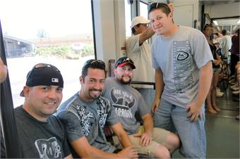 Shown from left: Tony Rand, Gregory Solano, Anthony Martinez and Nicholas Garcia.