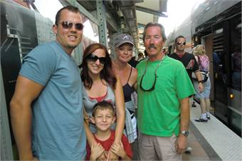 Shown from left: Kyle Wagg, Tonya Pagaro with son Jayden, Ruth Wagg and Vince Wagg.