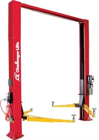 Many shops prefer above-ground lifts that are open on the floor. Plus, if you move your shop, the lifts go, too. Photo courtesy of Challenger Lifts.