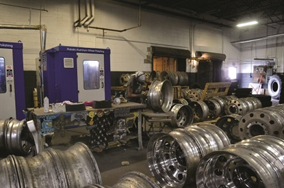 McCarthy Tire Service keeps its wheel polishing machines busy with a constant demand from its fleet customers. The company does all of the polishing work in house, but outsources wheel powder coating work.