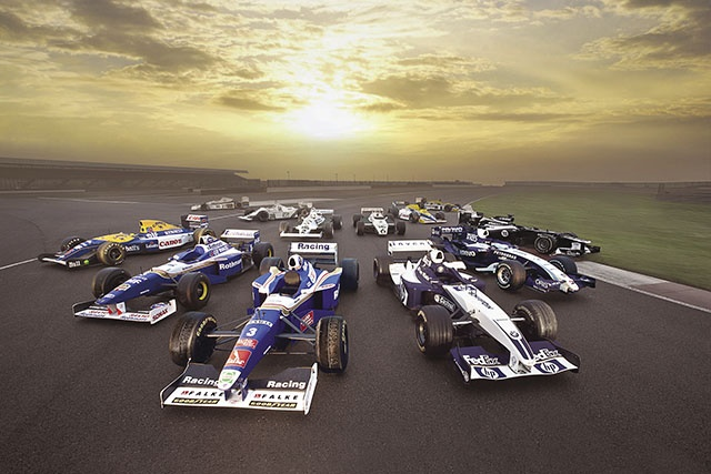 A iconic collection of Williams F1 racers.