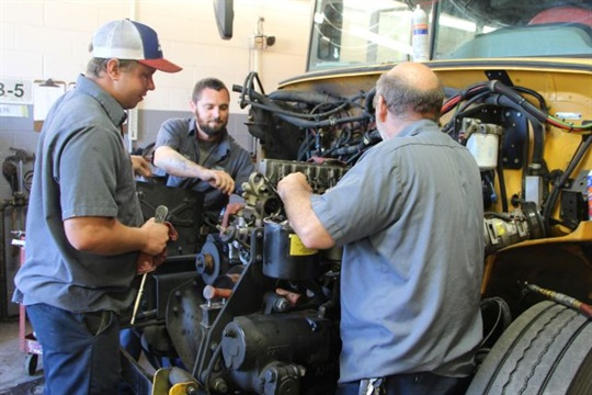 During the summer, mechanics at Winston-Salem/Forsyth County Schools were busy repairing and inspecting buses and getting them ready for the new school year.