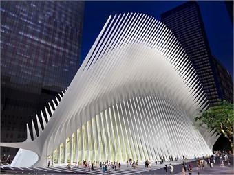 World Trade Center transit hub render via WTC.