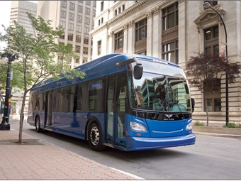 The new buses feature clean diesel engines, which use a four-step process to filter harmful emissions from the exhaust. New Flyer