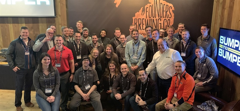 Despite winter flurries and difficult road conditions, over 50 Young Auto Care Group members turned out for a night of networking and fun at Founder's Brewery in Grand Rapids, Mich.