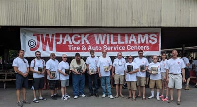 Jack Williams Tire honored employees for their tenure with years of service awards at its annual company picnic.