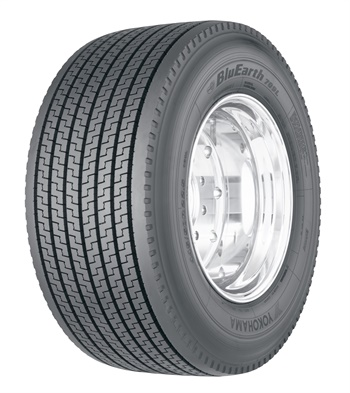 The 709L ultra wide base drive tire from Yokohama is the first commercial product in the company's environmentally friendly BluEarth line.