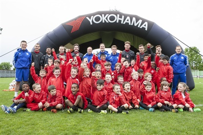 Yokohama's global sponsorship of the Chelsea Football Club is coming to the U.S. for youth soccer clinics.