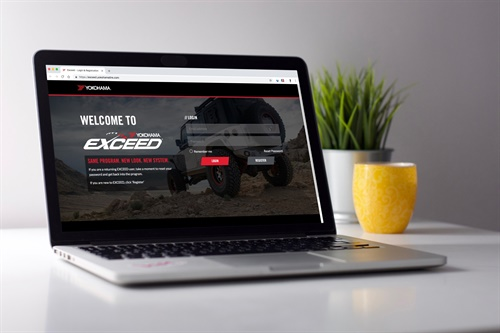 The redesigned EXCEED site allows users to see consumer and commercial sections via one login.