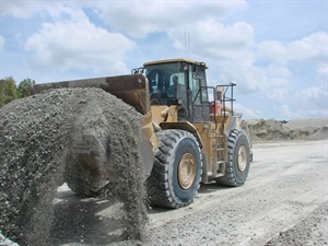 Yokohama says larger tires are becoming standard on some equipment as machines with higher horsepower and more weight than previous models are introduced. Photo courtesy of Yokohama