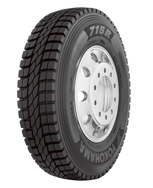 Yokohama's new U.S.-made 715R open shoulder regional drive tire is SmartWay-verified and available in 11R22.5 with three more sizes coming in early 2020.