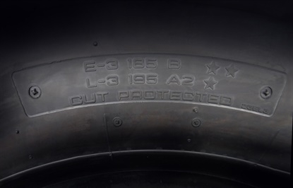 Yokohama is debuting five OTR tires that feature dual markings for double the applications.