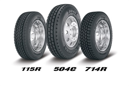Yokohama Tire Corp. will unveil these three truck tires at the upcoming TMC Show.